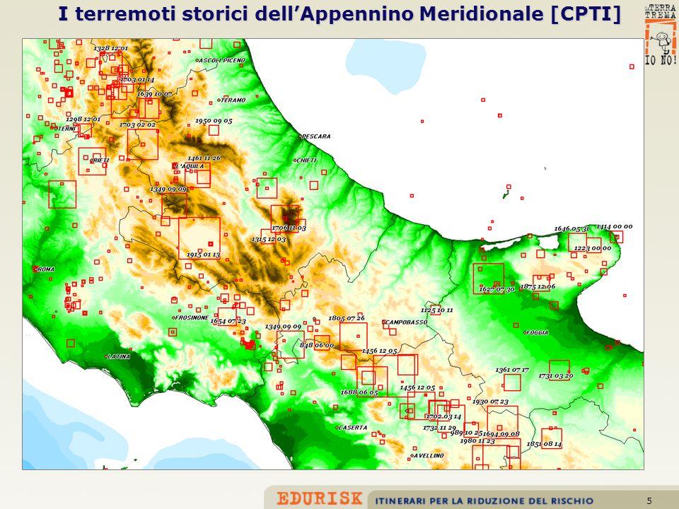 I terremoti storici dell'Appennino Meridionale [CPTI]